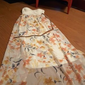 Lily Rose strapless maxi floral dress size M